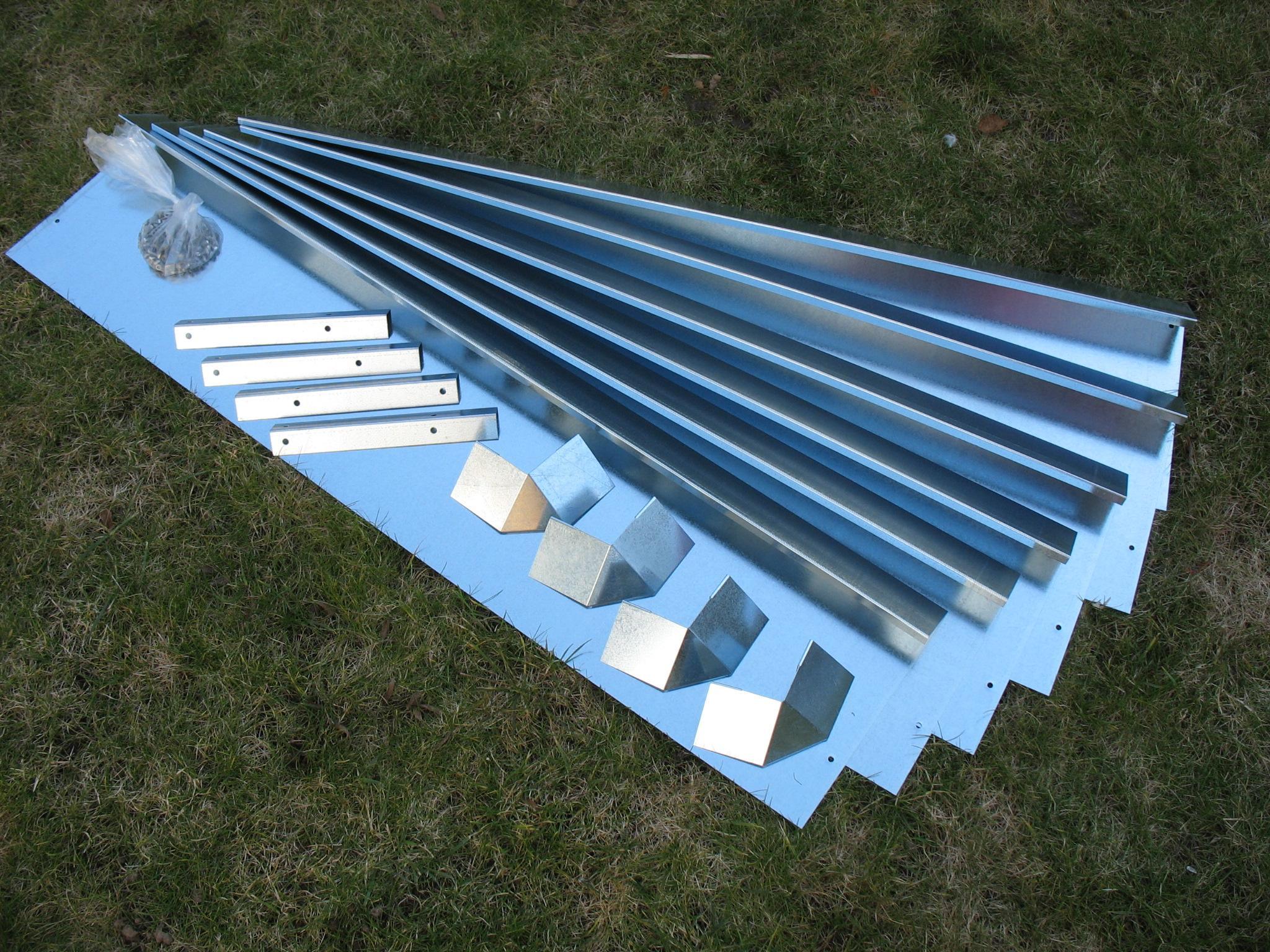schneckenzaun schutz metall f r beet max 1qm 4 bleche 4 ecken. Black Bedroom Furniture Sets. Home Design Ideas