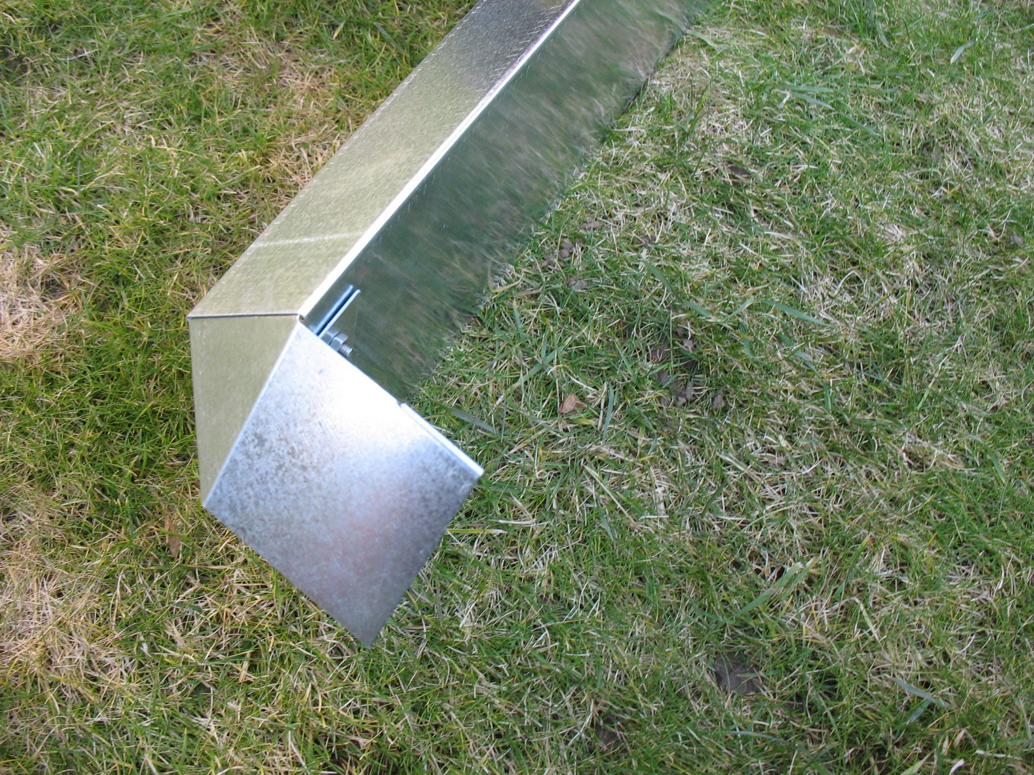 schneckenzaun schutz metall f r beet max 6qm 10 bleche 4. Black Bedroom Furniture Sets. Home Design Ideas