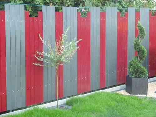 Zaun sichtschutz aus metall 1,5 m lang und 1,5m höhe   alles für ...