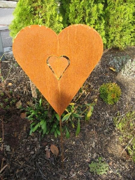Herz edelrost zum stecken 80 cm gro alles f r haus und for Herz aus rost