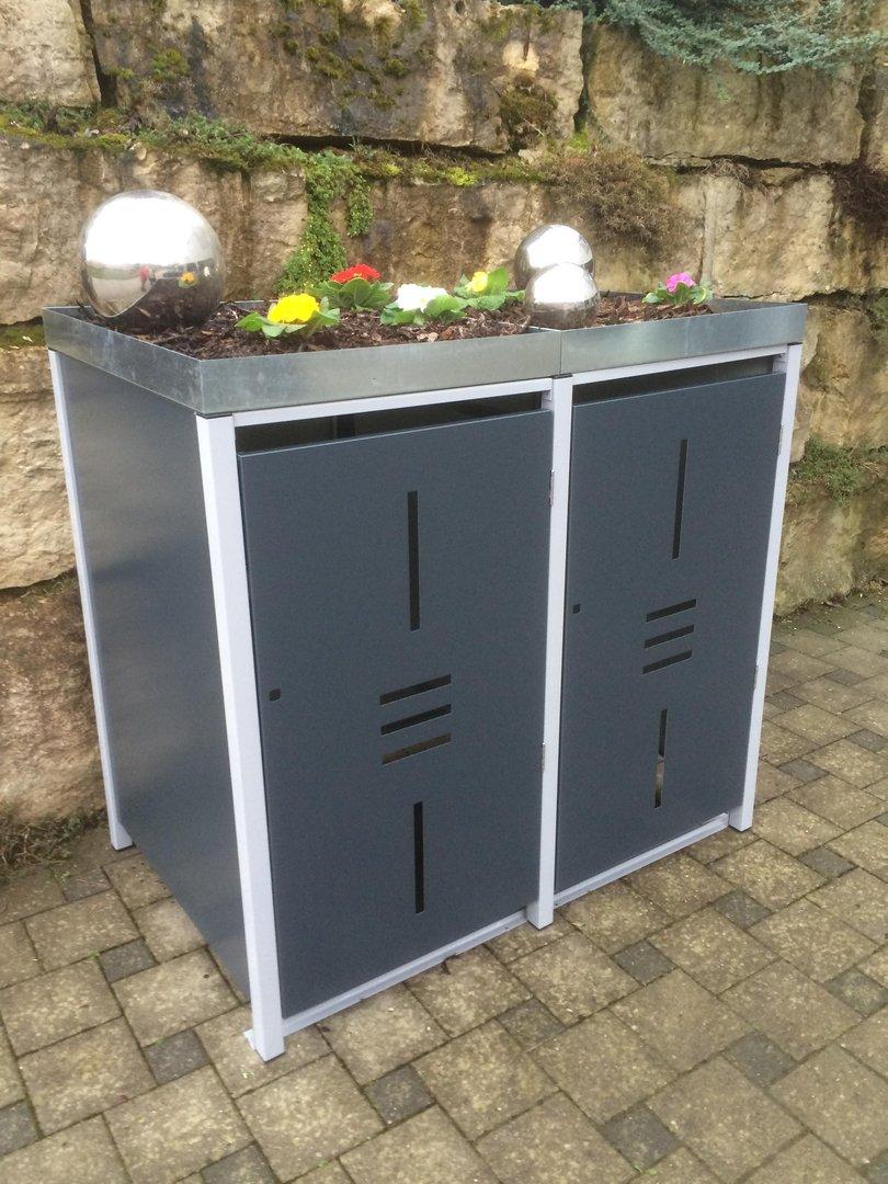 m lltonnenboxen aus metall langlebig und sch n. Black Bedroom Furniture Sets. Home Design Ideas
