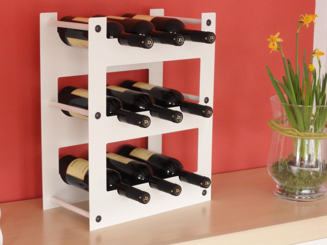 Weinregal f r 9 flaschen aus metall design h nge regal for Design artikel shop