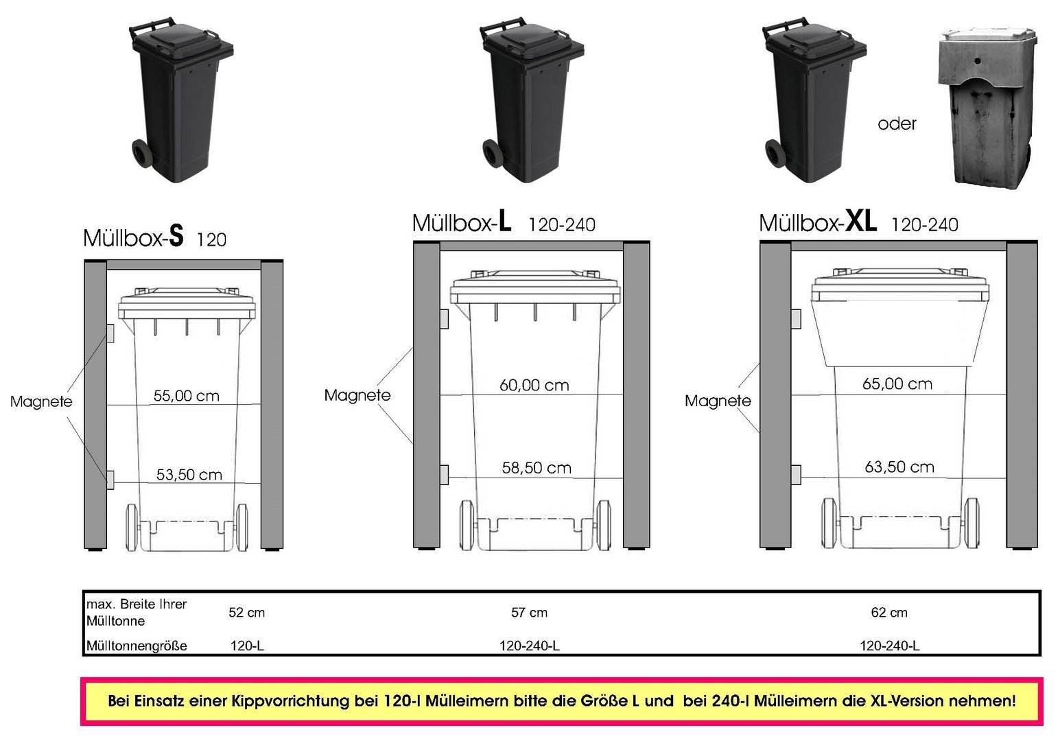 3 er m llbox m lltonnenhaus metall 120 s var 3 freie farbwahl. Black Bedroom Furniture Sets. Home Design Ideas