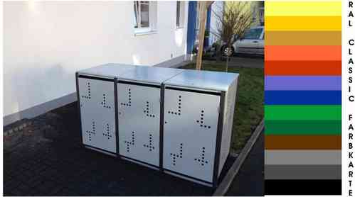 3 er Müllbox 240 Ltr  /  Klappdach-----MB-240-3-D