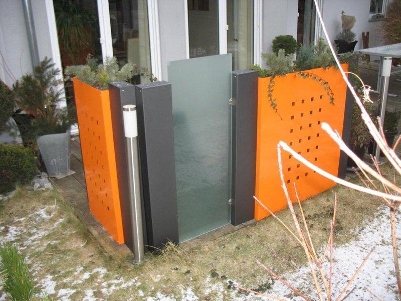 Sichtschutz modulbau for Anbauelemente haus