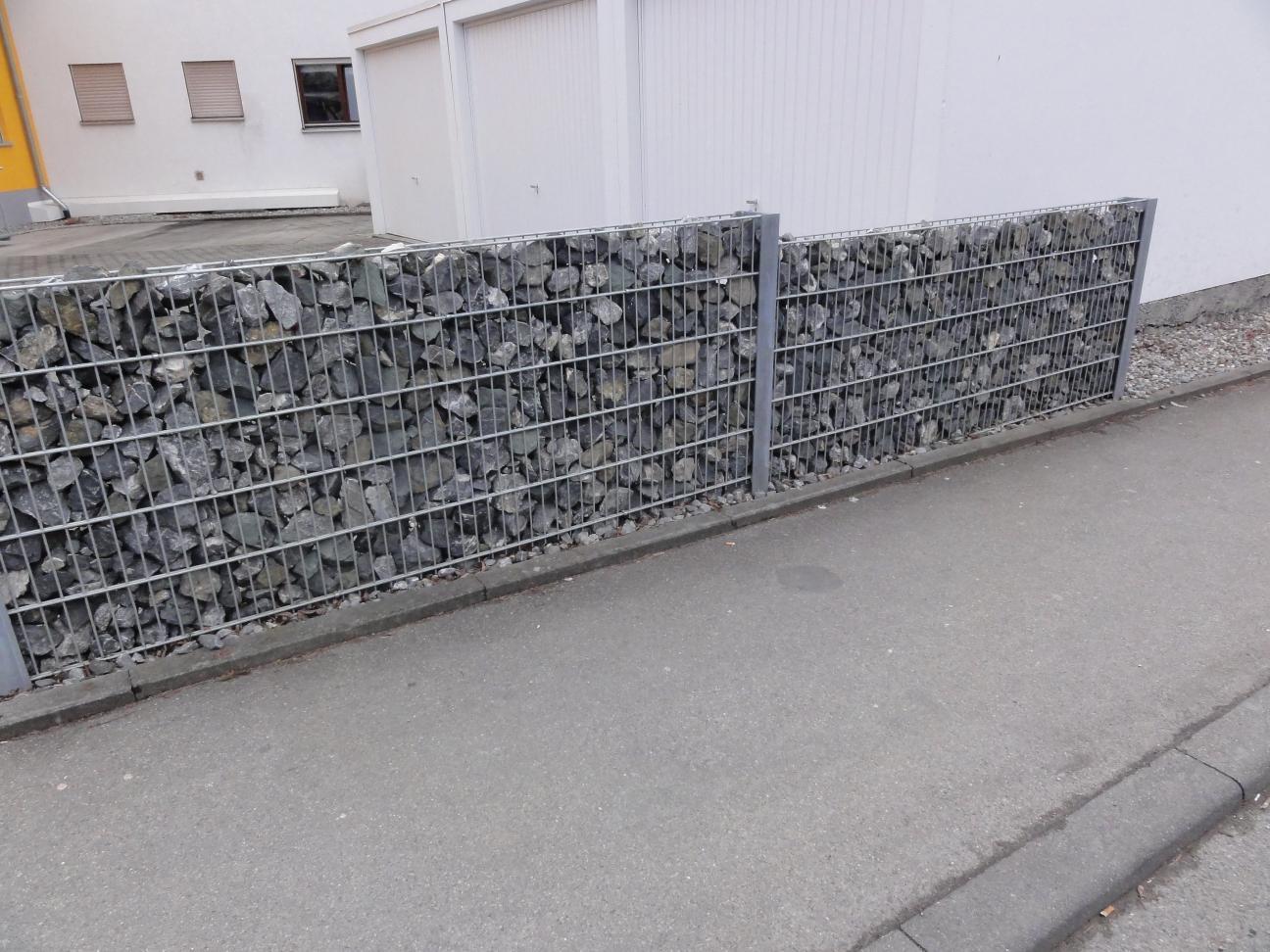 Gabionen Sichtschutz Zaun Alles für Haus und Garten aus Metall