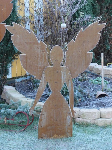 Engel edelrost gr e 1 5 m alles f r haus und garten aus for Rostfiguren weihnachten