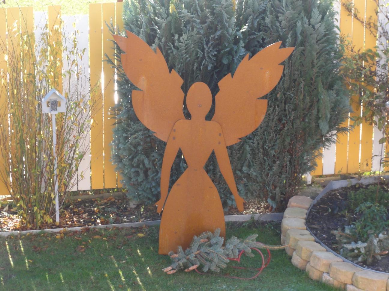 Engel edelrost gr e 1 5 m alles f r haus und garten aus for Engel edelrost