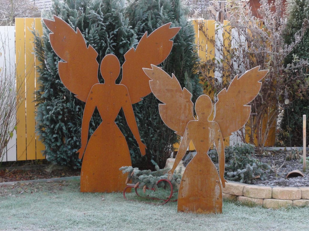 Engel edelrost gr e 1 9 m alles f r haus und garten aus for Engel edelrost