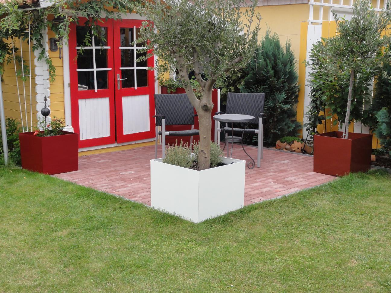 pflanztopf bertopf 40 x 40 x 40 cm farbe nach farbkarte. Black Bedroom Furniture Sets. Home Design Ideas