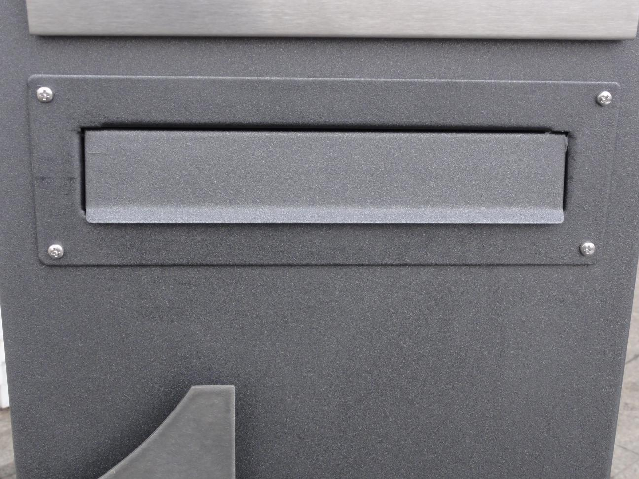briefkasten stele 150 x 35 x 20 cm farbe nach farbkarte. Black Bedroom Furniture Sets. Home Design Ideas