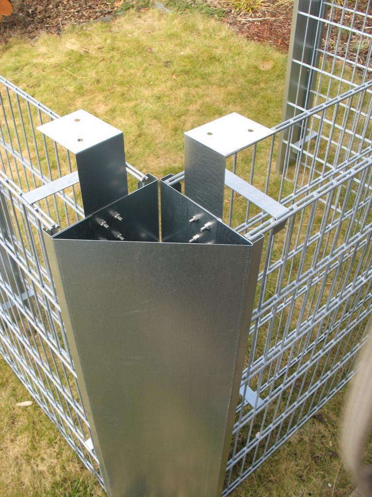 Kaminholzregal Au En gabionenzaun eckblech 180 cm hoch alles für haus und garten aus metall