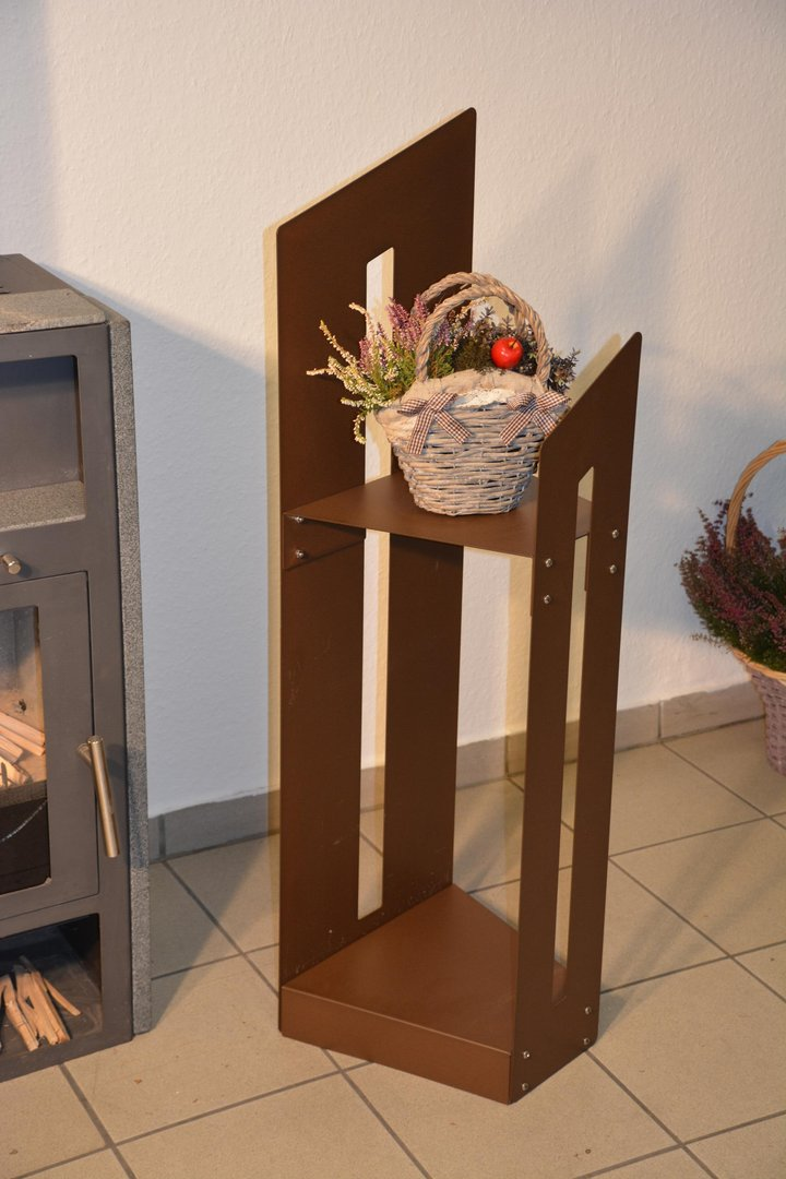 kaminholzregal metall innen schr g 1 15 m. Black Bedroom Furniture Sets. Home Design Ideas