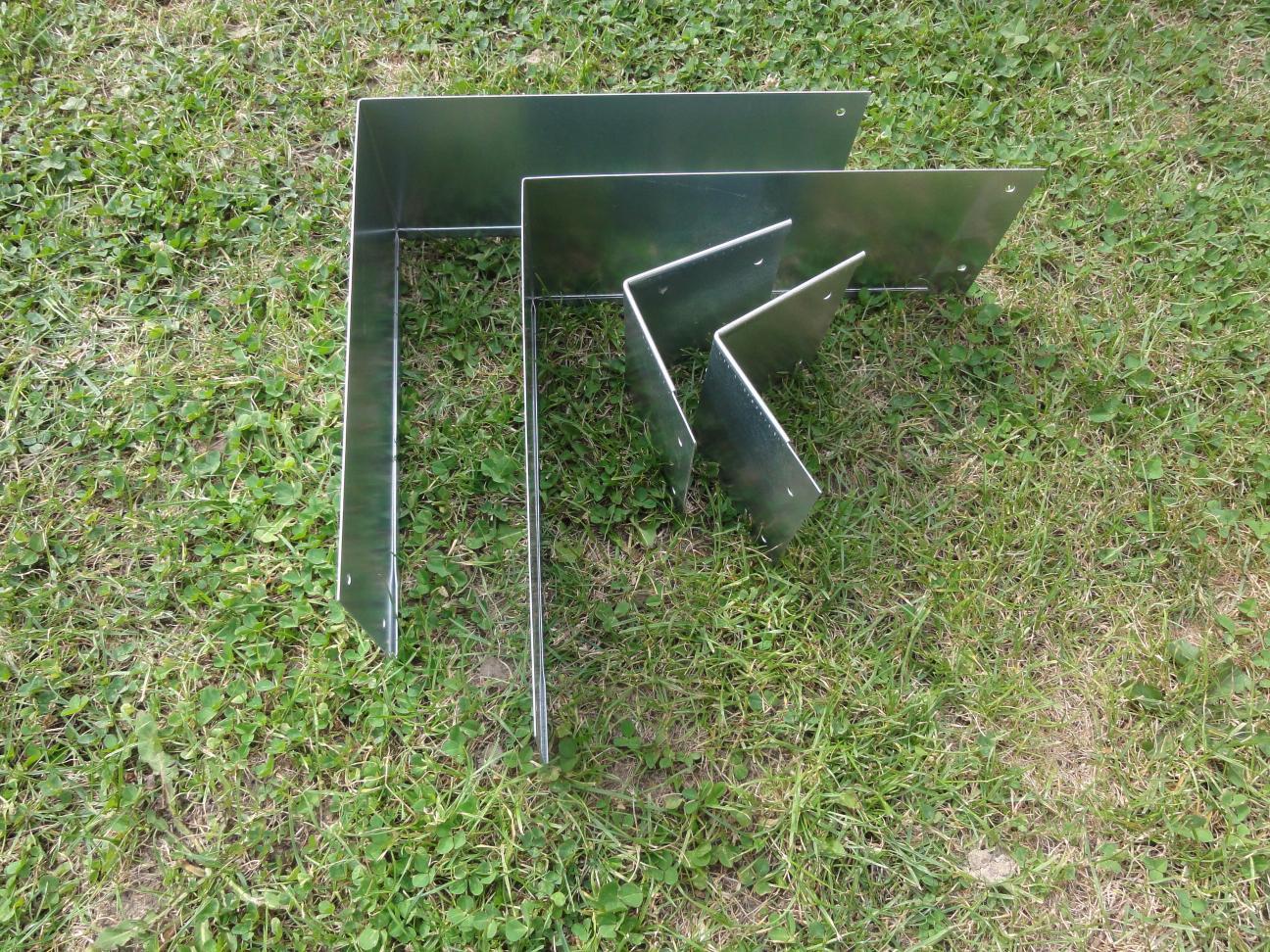 rasenkanten metall set viereckform 37x37 cm und 12 cm hoch. Black Bedroom Furniture Sets. Home Design Ideas