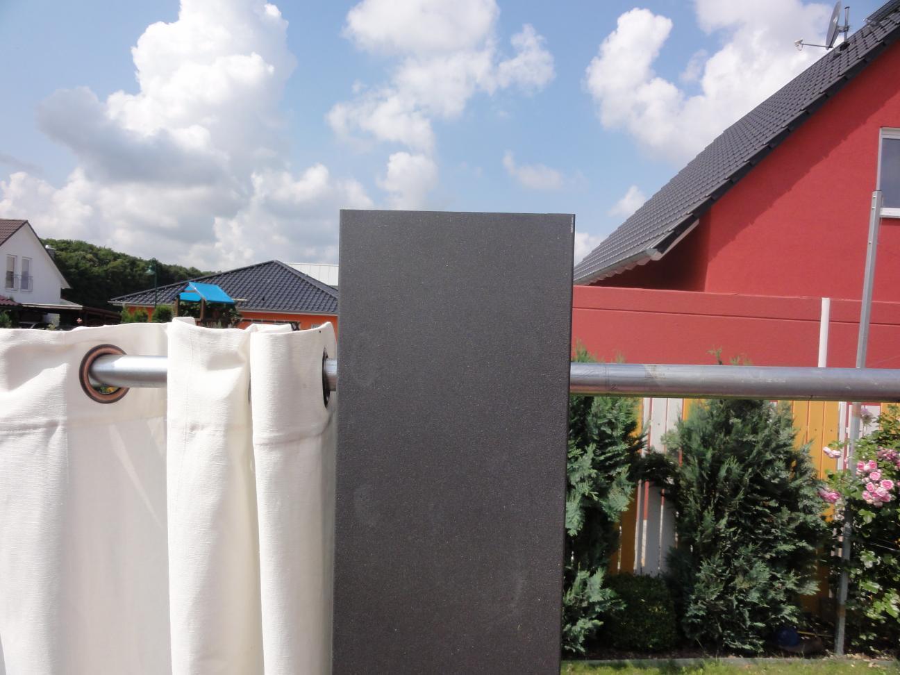 Sichtschutz Mittelsäule 2 2 m x 0 2 x 0 2 m pulverbeschichtet