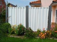 sichtschutz mit vorhang alles f r haus und garten aus metall. Black Bedroom Furniture Sets. Home Design Ideas