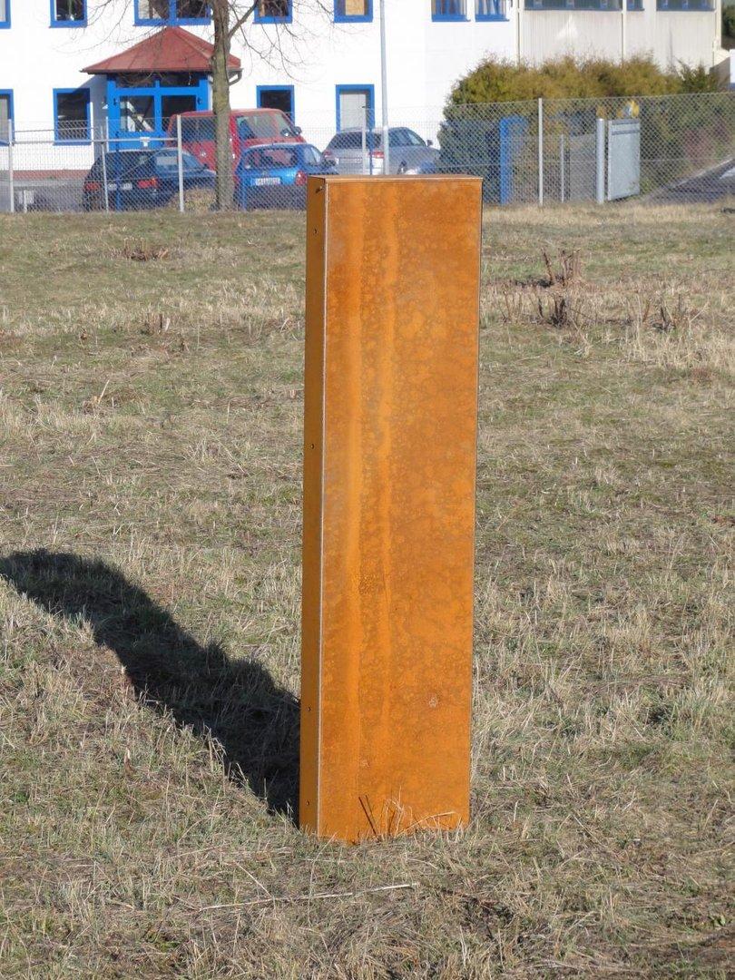 cortenstahl stele – proxyagent, Garten und bauen