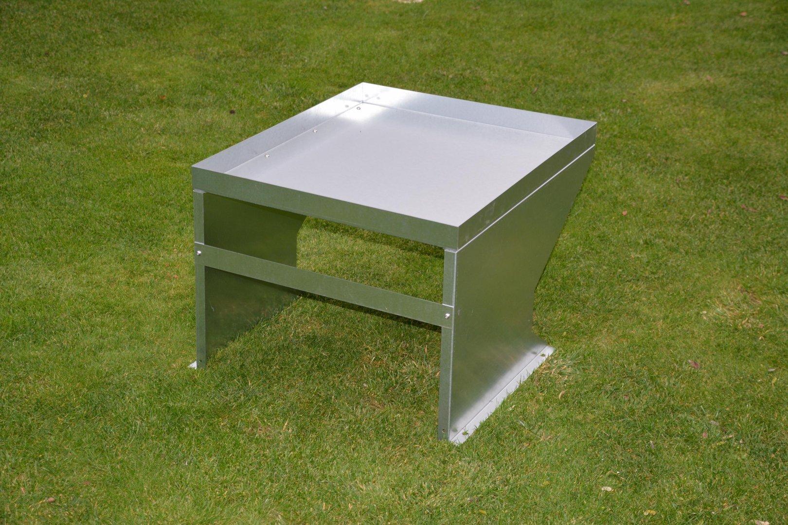 m hroboter garage pflanzdach verzinkt aus metall. Black Bedroom Furniture Sets. Home Design Ideas