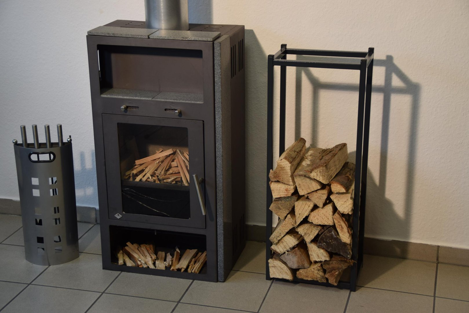 kaminholzregal innen stab 900x350 aus metall. Black Bedroom Furniture Sets. Home Design Ideas
