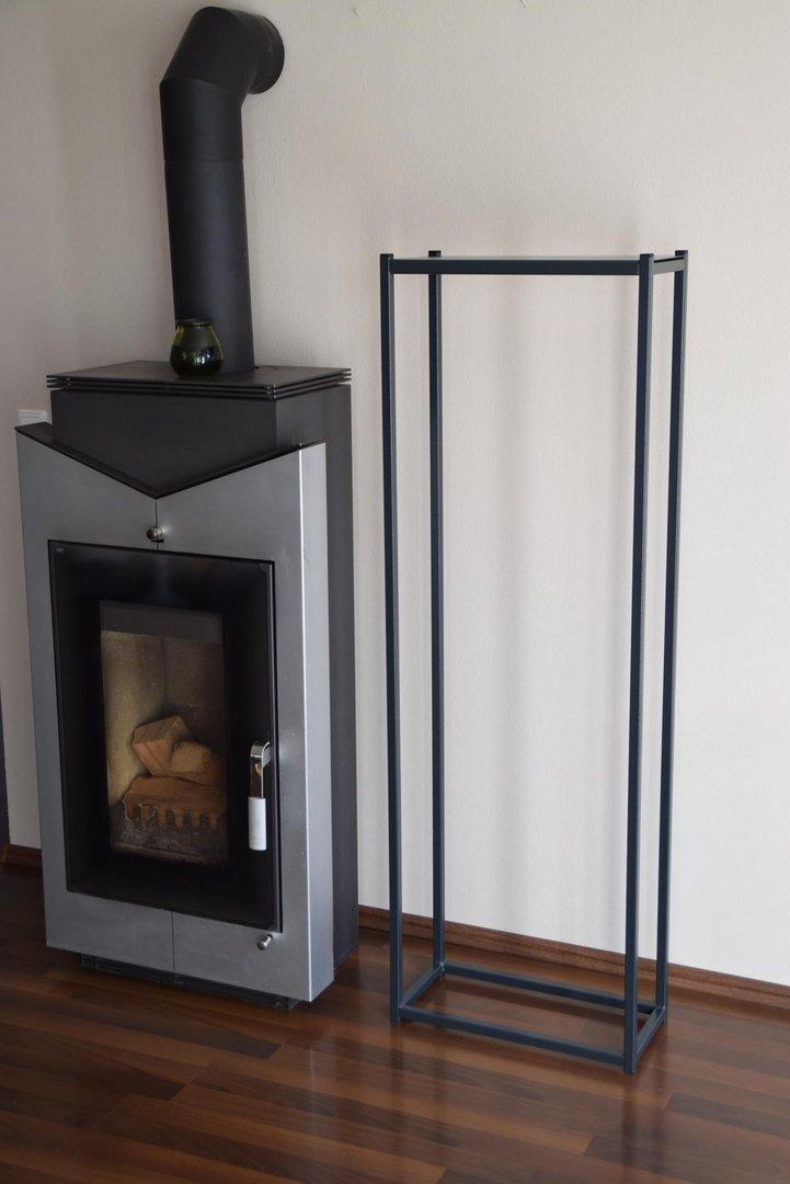 kaminholzregal innen stab 1500x500 aus metall. Black Bedroom Furniture Sets. Home Design Ideas