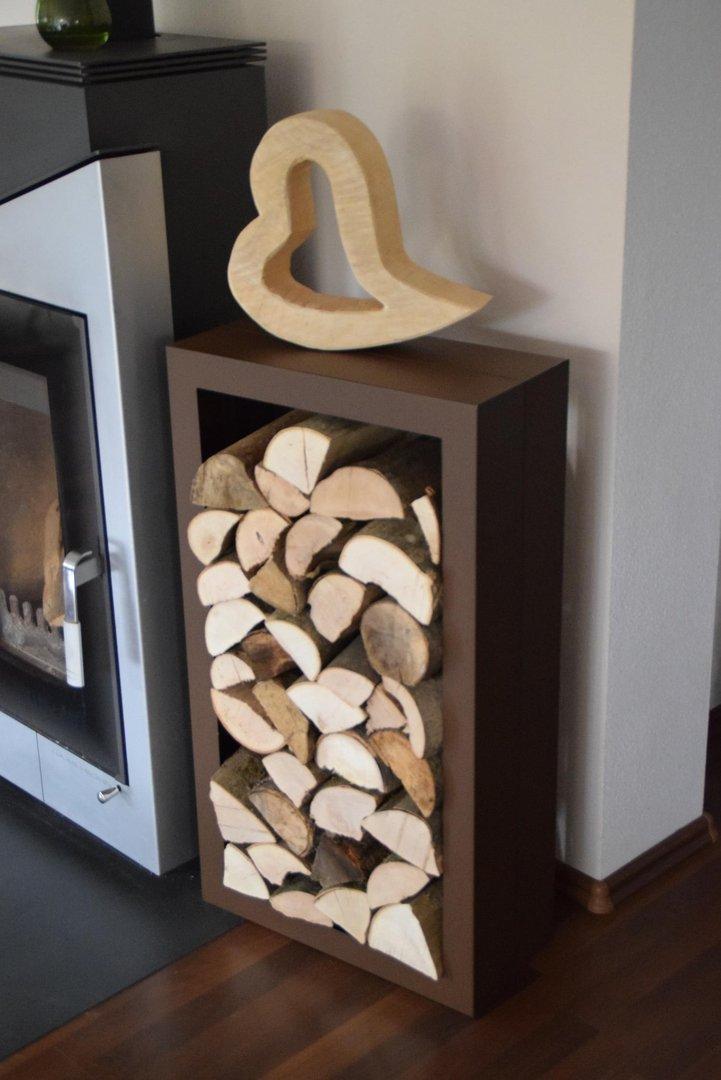kaminholzregal rechteck innenbereich aus metall. Black Bedroom Furniture Sets. Home Design Ideas