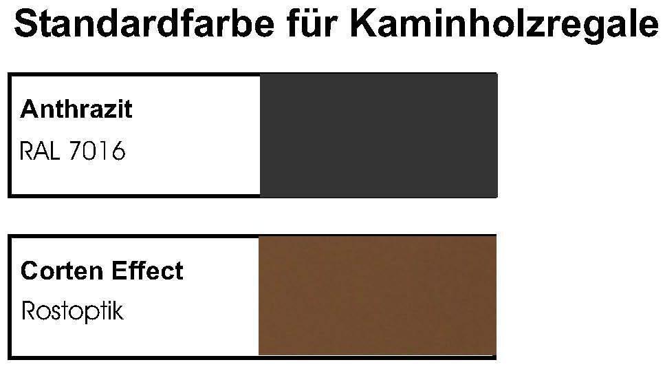 kaminholzregal rechteck innenbereich mit anfeuerholzfach. Black Bedroom Furniture Sets. Home Design Ideas