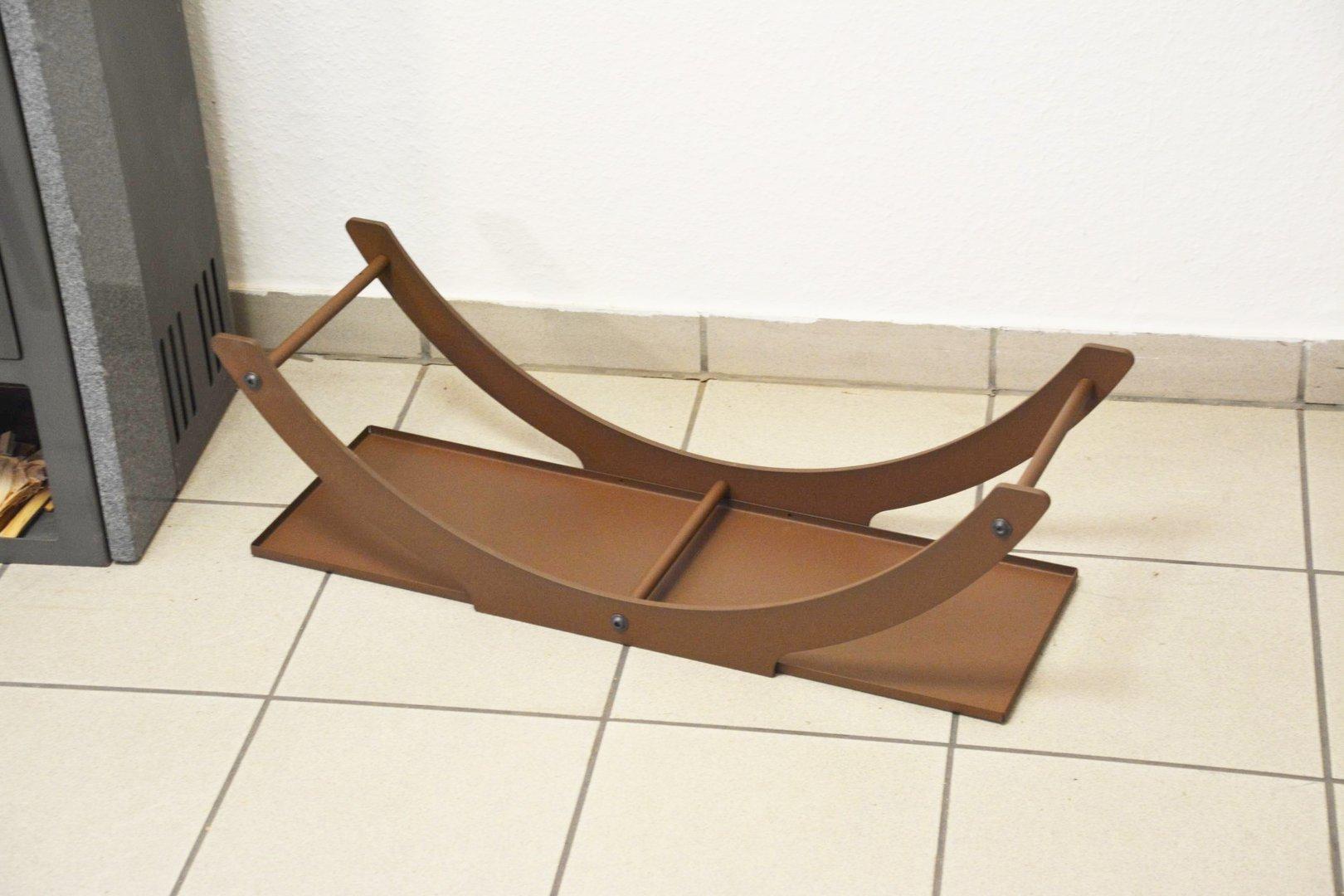 kaminholzschale innen bogen flach aus metall. Black Bedroom Furniture Sets. Home Design Ideas