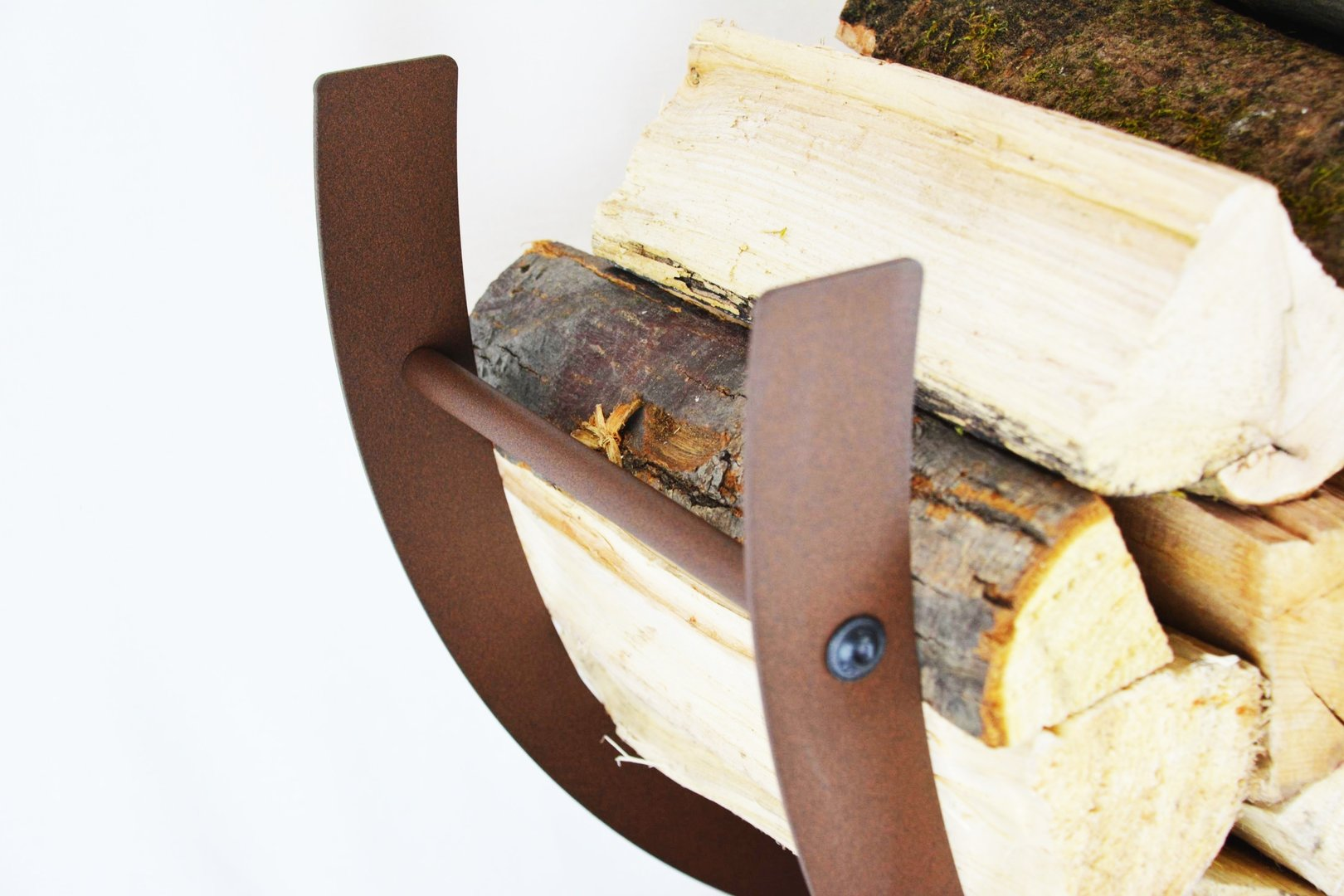 kaminholzschale innen bogen steil aus metall. Black Bedroom Furniture Sets. Home Design Ideas