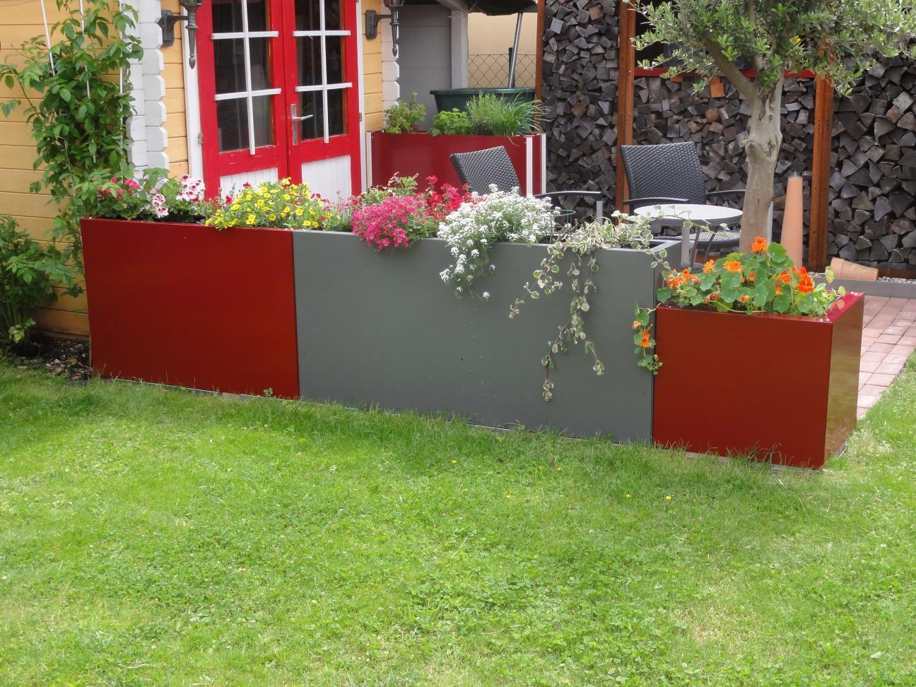 hochbeet urban aus metall 1 1m x 0 3 m x 0 9 m beschichtet. Black Bedroom Furniture Sets. Home Design Ideas