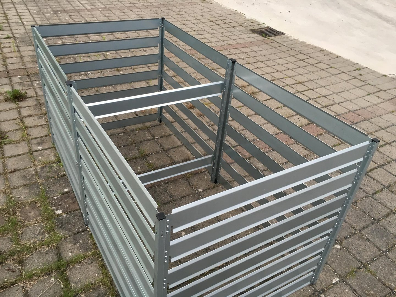 komposter anbauset xxl aus metall 1 m x 1 m x 1 m verzinkt. Black Bedroom Furniture Sets. Home Design Ideas