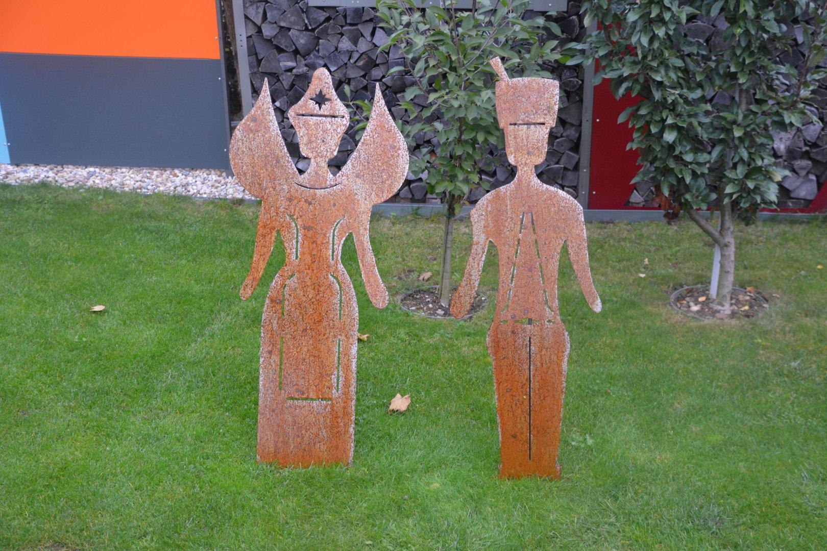 Engel und bergmann edelrost figuren 118 cm cortenstahl for Rostfiguren garten