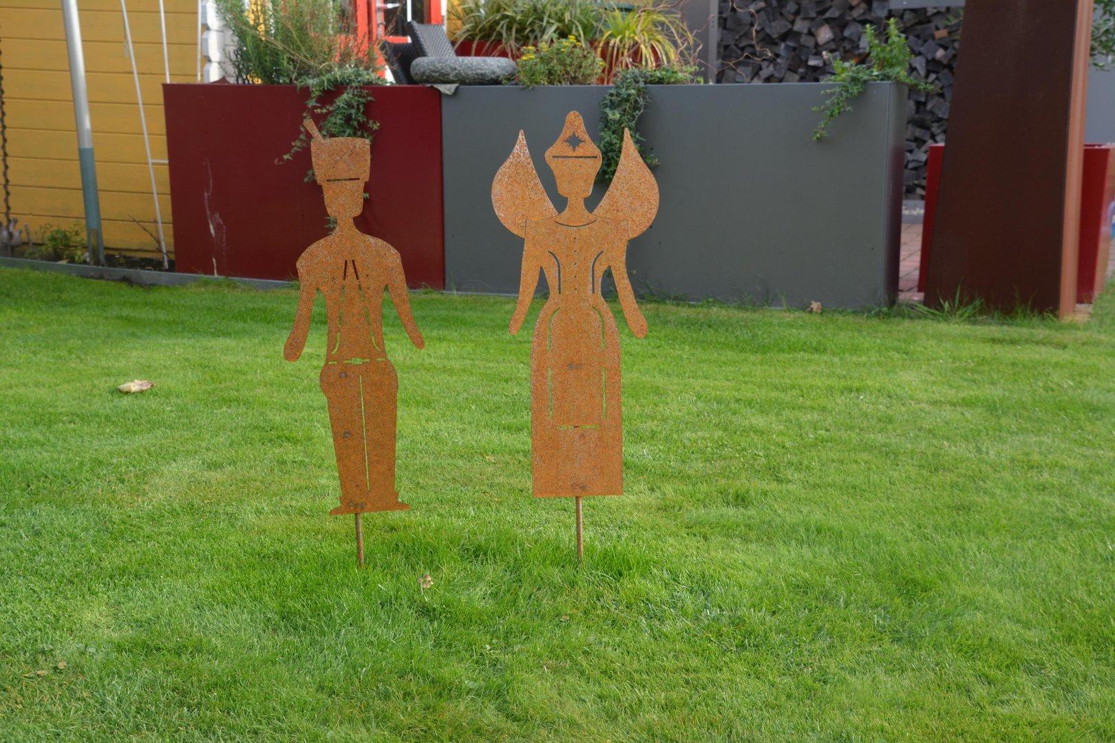 Engel und bergmann edelrost figuren 118 cm cortenstahl for Edelrost figuren