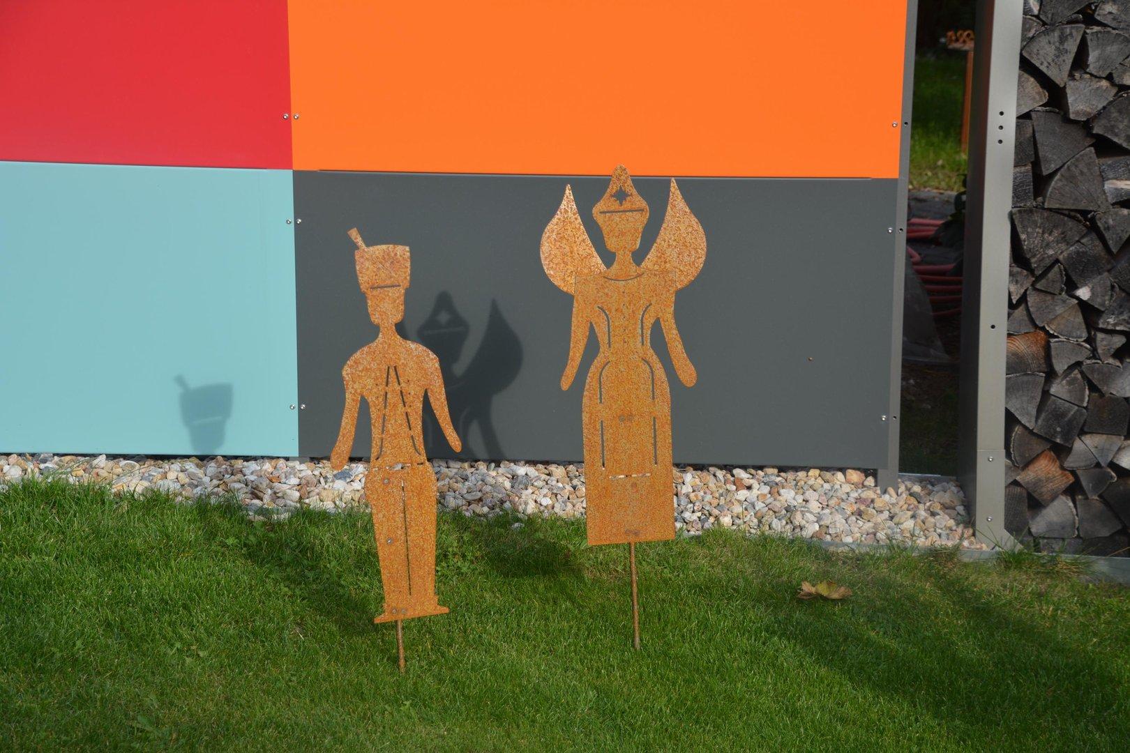 Engel und bergmann edelrost figuren 118 cm cortenstahl for Rostfiguren weihnachten