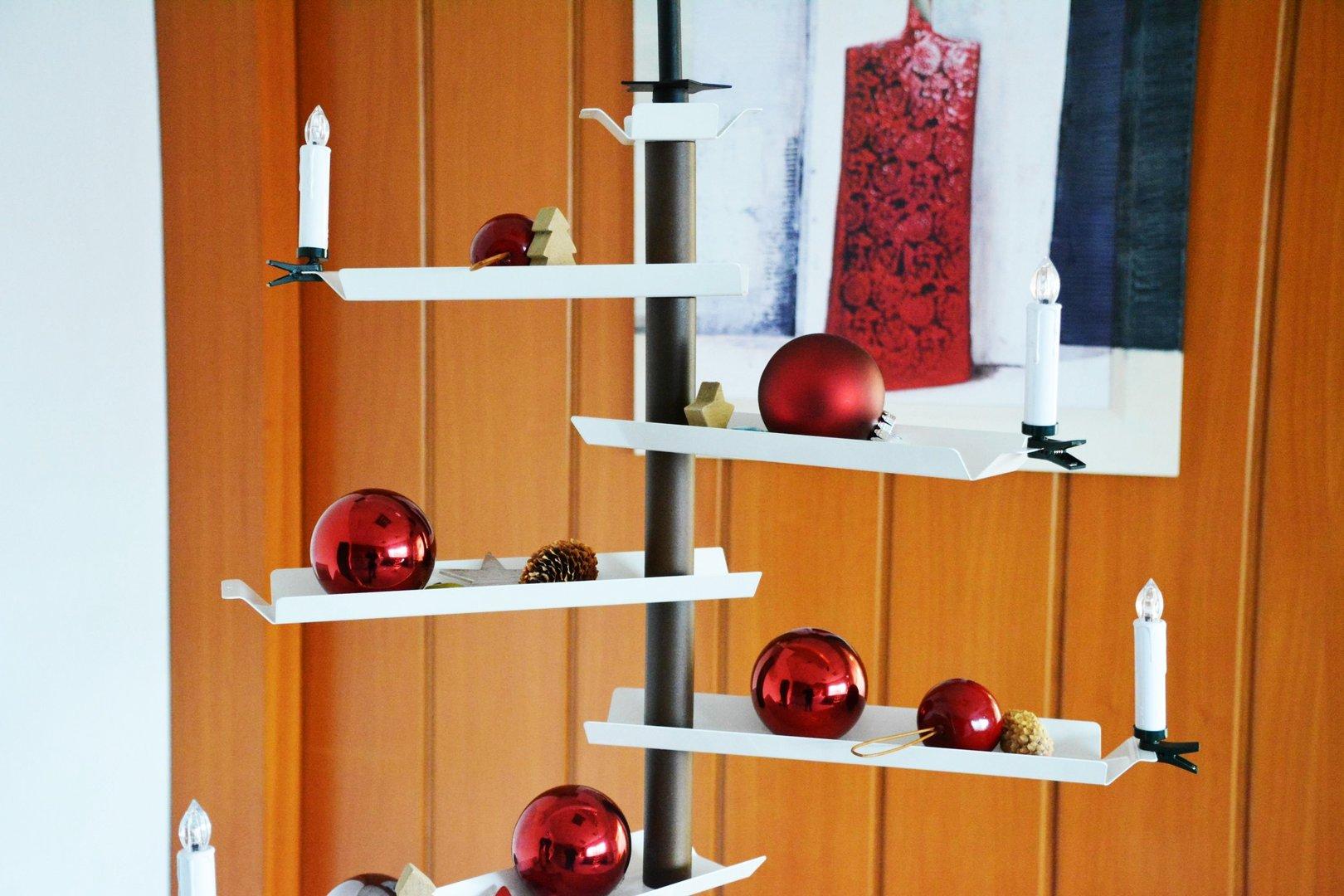 weihnachtsbaum aus metallleisten 170 cm einseitig. Black Bedroom Furniture Sets. Home Design Ideas