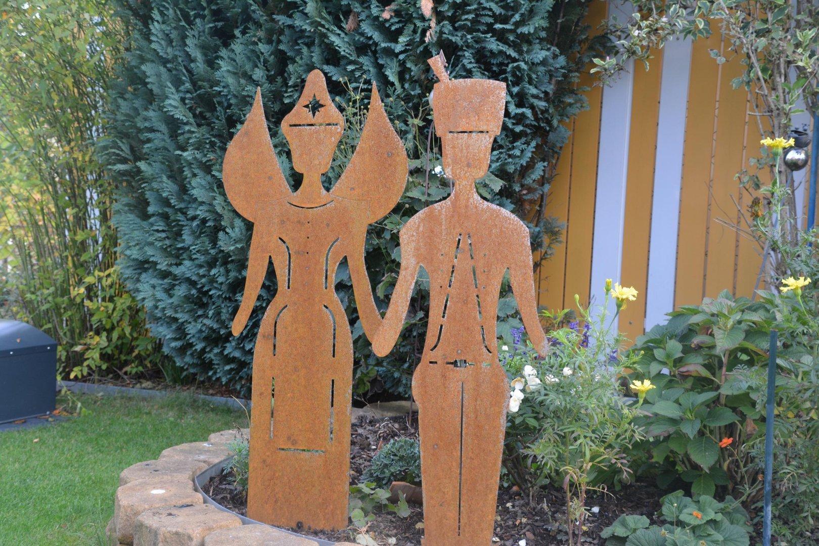 Engel und bergmann edelrost figuren 63 cm corten stahl for Edelrost figuren