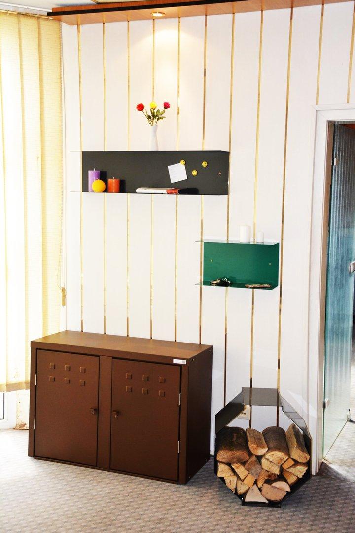 wandregal u kurz alles f r haus und garten aus metall. Black Bedroom Furniture Sets. Home Design Ideas