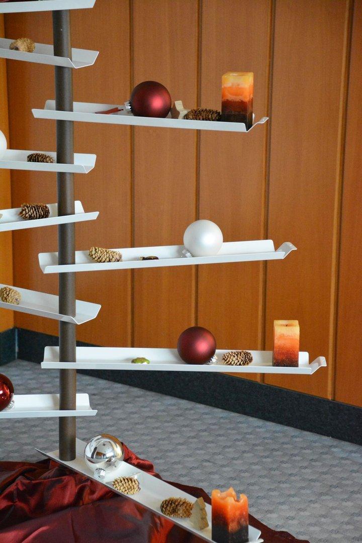 weihnachtsbaum aus metallleisten 100 cm einseitig. Black Bedroom Furniture Sets. Home Design Ideas
