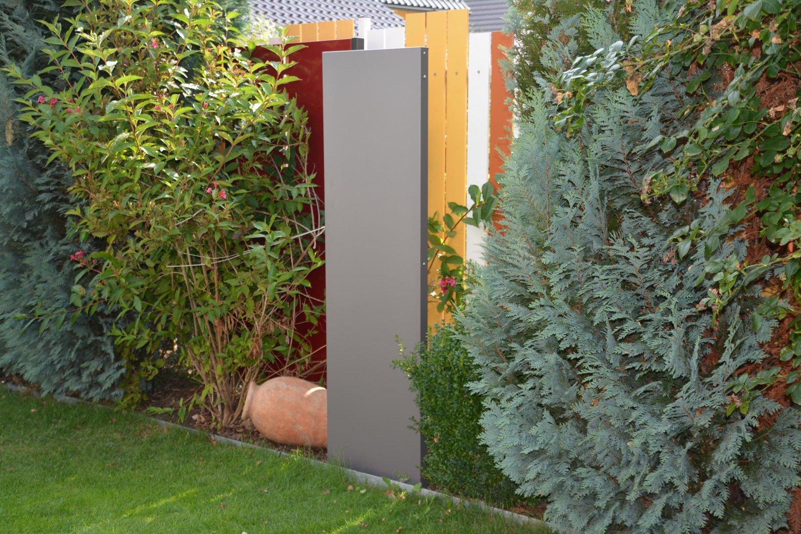 stele sichtschutz schmal 180 x 20 x 4 cm aus metall. Black Bedroom Furniture Sets. Home Design Ideas