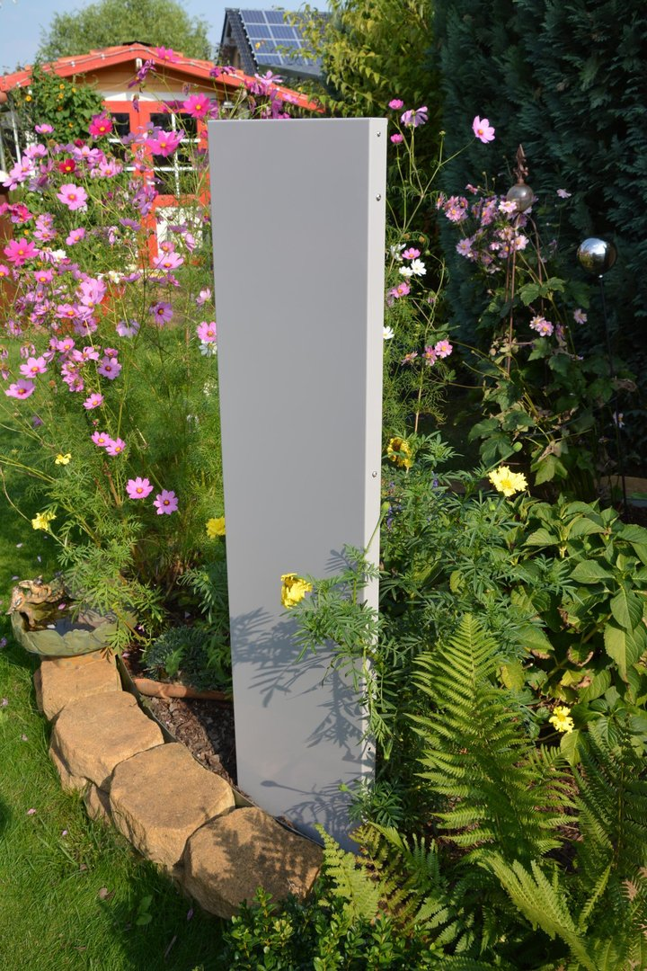 Stele / Sichtschutz SCHMAL 180 x 20 x 4 cm aus Metall