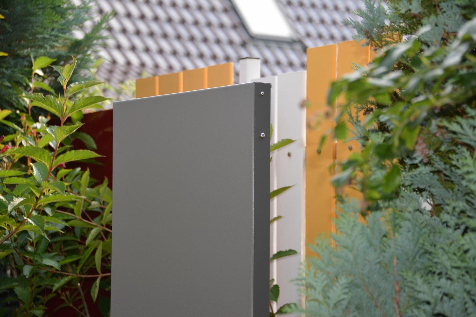 Stele Sichtschutz SCHMAL 160 x 20 x 4 cm aus Metall