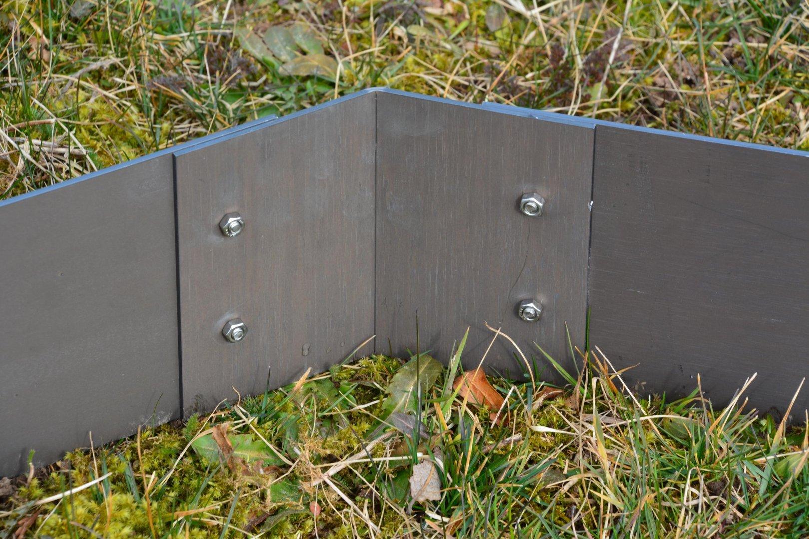 rasenkanten cortenstahl eckprofil 25 cm 135 grad. Black Bedroom Furniture Sets. Home Design Ideas