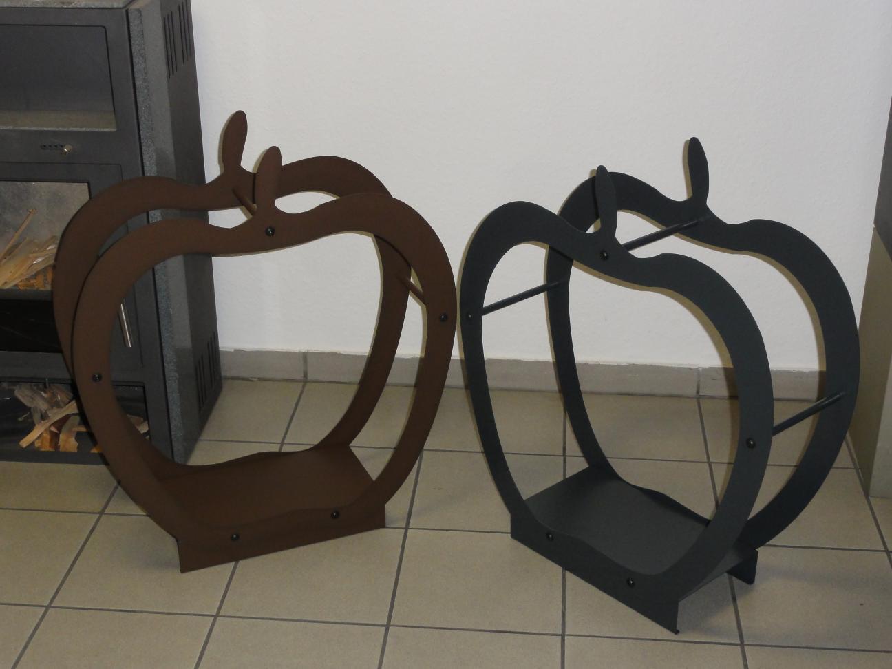 kaminholzregal innen apfel aus metall. Black Bedroom Furniture Sets. Home Design Ideas