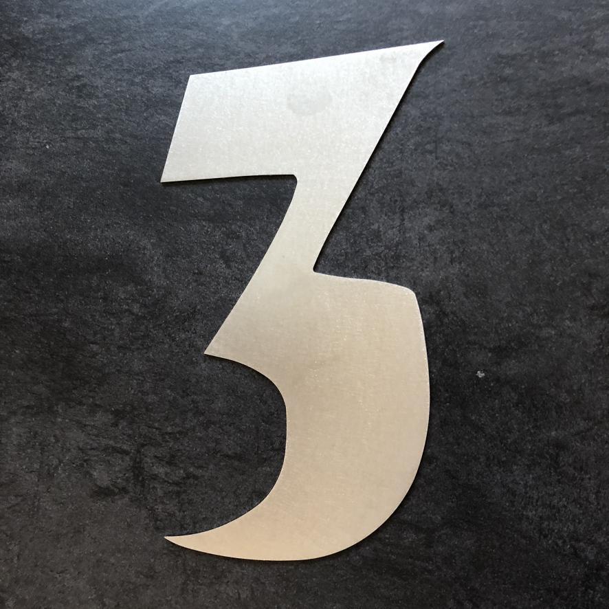 Hausnummer Modern hausnummer aus edelstahl höhe 30 cm modern hausnummer 3