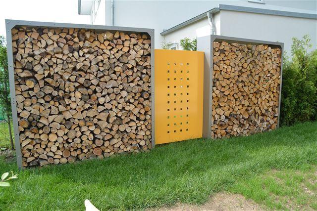 Brennholzregal außen  Kaminholzregal Außen - alles für haus und garten aus metall