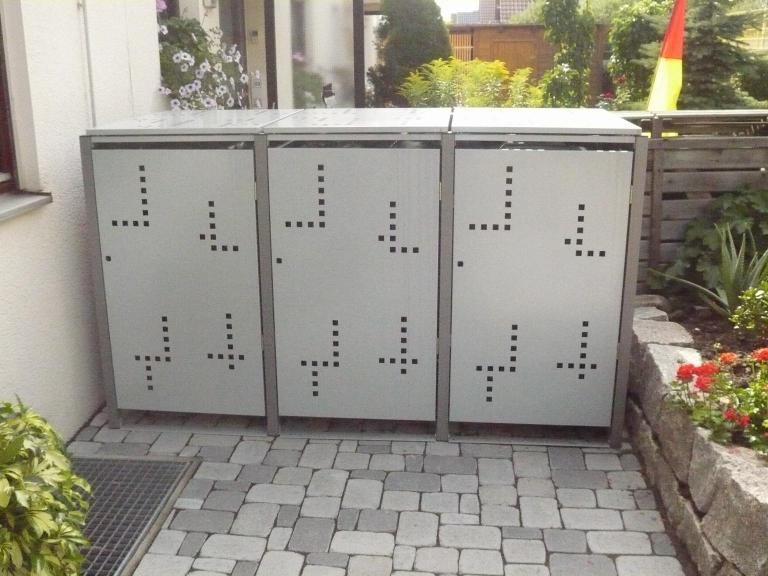 m lltonnenbox m llbox metall 240 liter gr e l. Black Bedroom Furniture Sets. Home Design Ideas