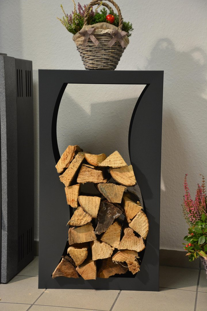 kaminholzregal welle innenbereich regal aus metall. Black Bedroom Furniture Sets. Home Design Ideas