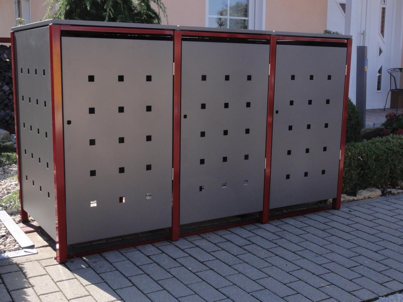mülltonnenboxen aus metall langlebig und schön - für mülltonnen