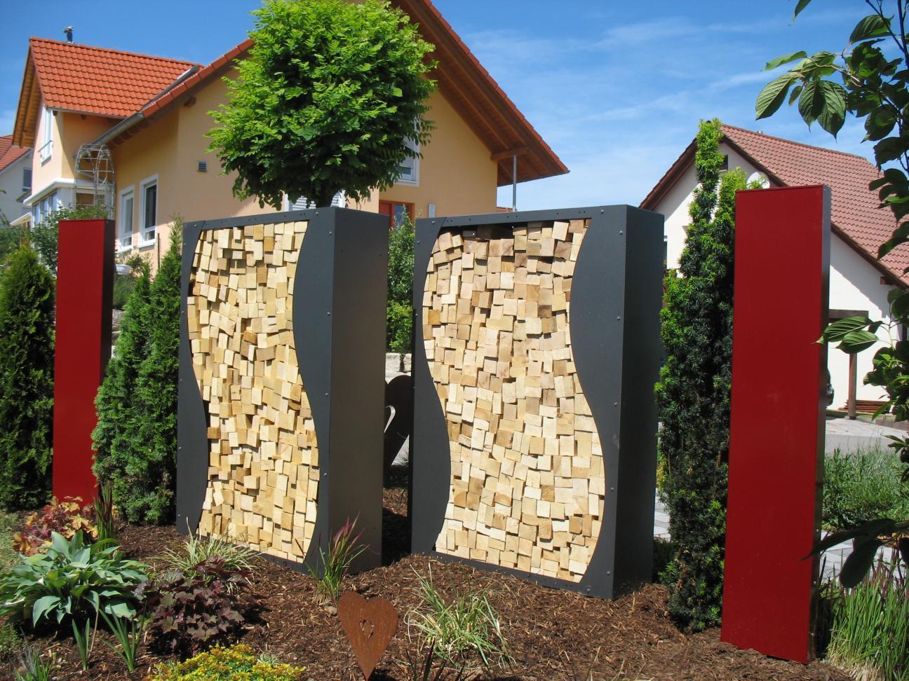 Holzaufbewahrung Außen aus metall für den innen und außenbereich