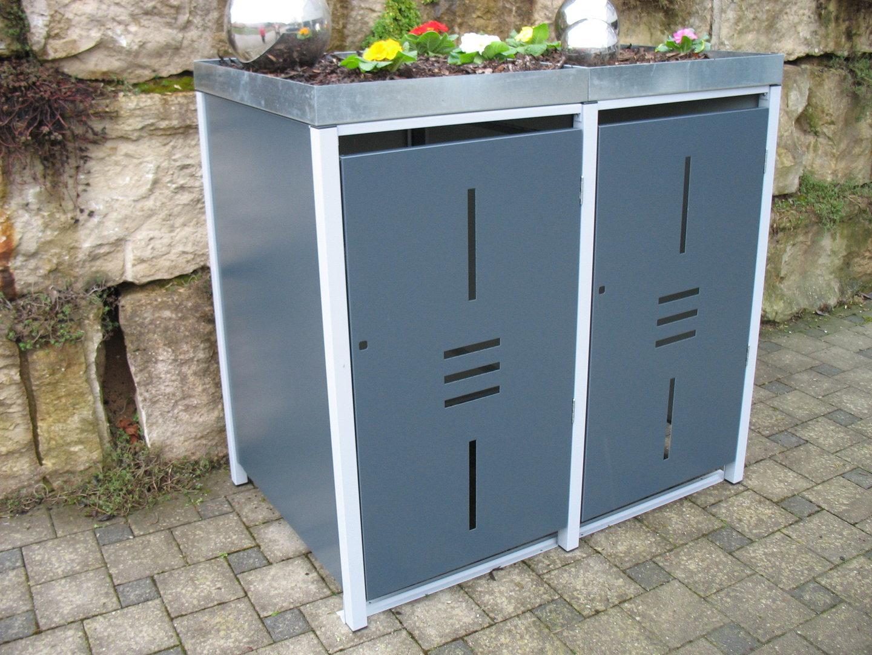 m lltonnenboxen auf video alles f r haus und garten aus metall. Black Bedroom Furniture Sets. Home Design Ideas