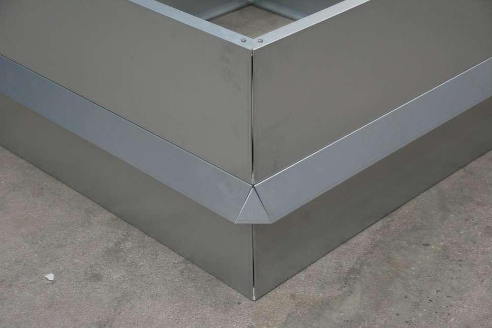 Hochbeet Metall Mit Schneckenzaun Metall 1 M X 2 M 45 Cm Hoch